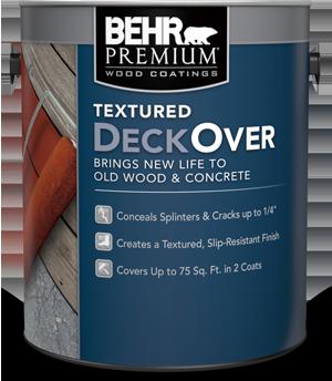 BEHR PREMIUM Textured DECKOVER® Coating | Behr