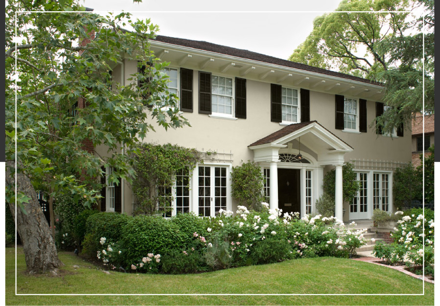Georgian and federal style exteriors behr for Behr exterior white paint colors