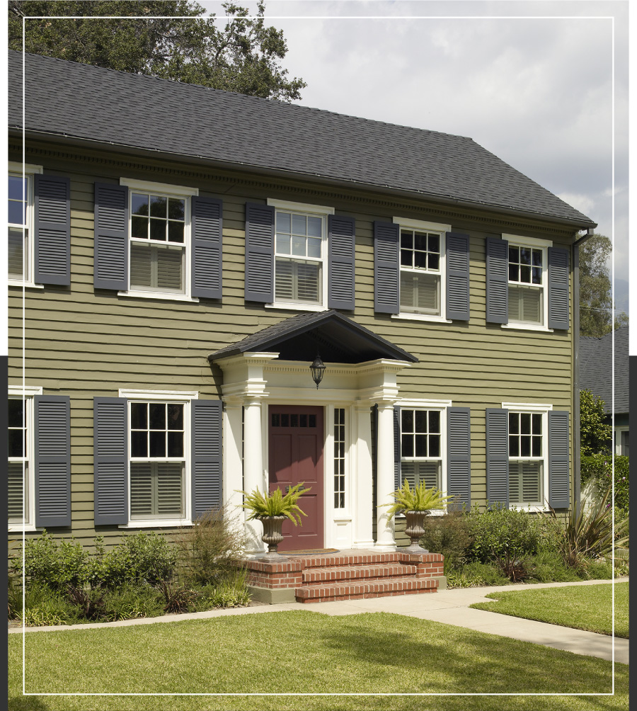 Georgian and federal style exteriors behr for House exterior inspiration