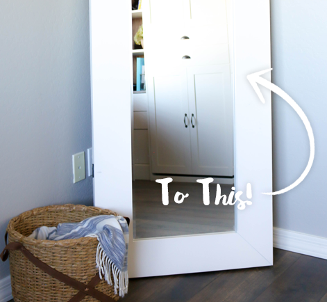 Diy Full Length Mirror With Drawer Project Behr