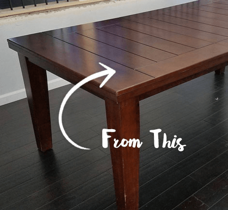 diy painted dining room table refinishing project behr