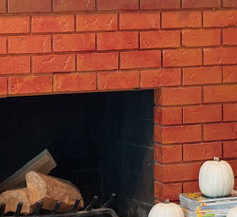 Modern rustic update to fireplace paint and wall behr - How to make a brick fireplace look modern ...