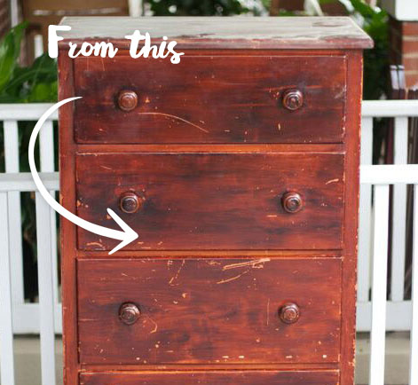 Furniture Hack: Chest Refinished In Homemade Chalk Paint