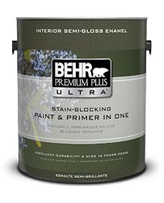 Interior Semi Gloss Enamel Paint Primer Behr Premium Plus Ultra