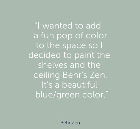 """I wanted to add a fun pop of color 