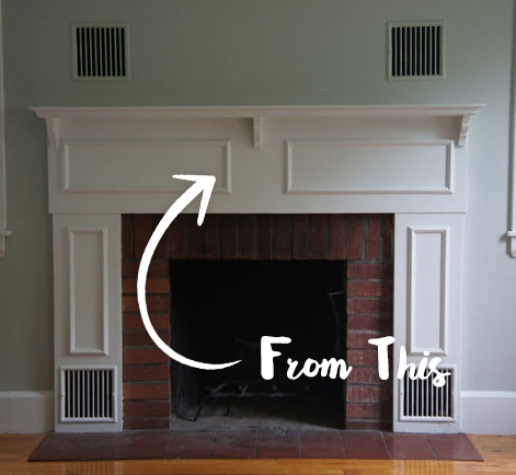 Modern Color Fireplace Facelift - Painting A Drab Fireplace With A Modern Look Behr