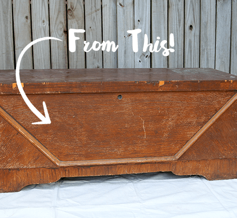 Merveilleux Cedar Chest Vintage DIY With Paint | Behr
