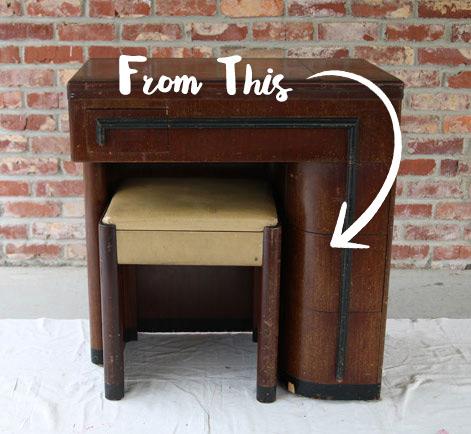 - Flipping A Flea Market Desk Into Great Vintage Look Behr