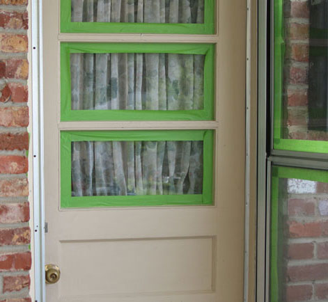 The carport door is protected by an ugly aluminum storm door that is probably original to the house. The door is dinged and dented and well\u2026.just ugly! & Updated Exterior Door Paint Revitalizes Rear Entry | Behr Pezcame.Com