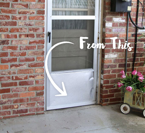 & Updated Exterior Door Paint Revitalizes Rear Entry | Behr