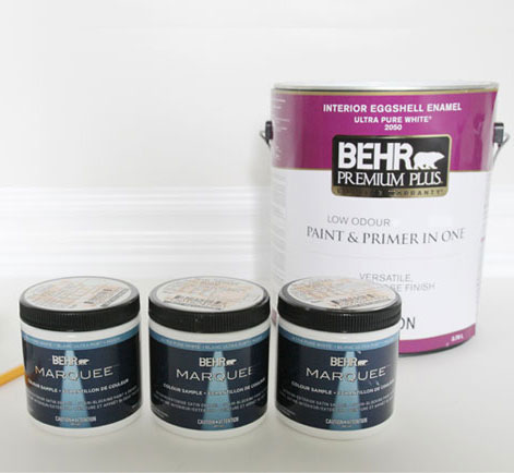 Marquee paint samples