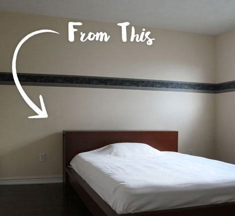 Before and after bedroom repainting
