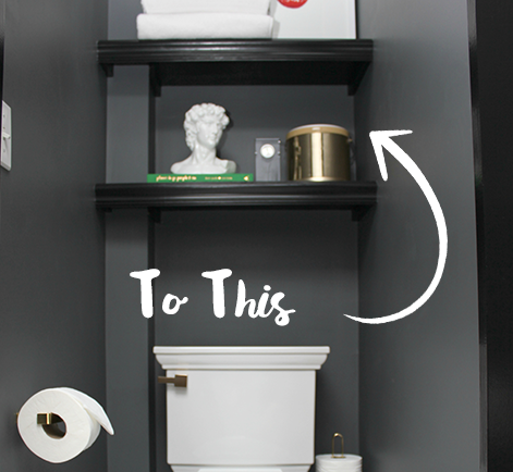 DIY New Bathroom Shelf Design With Black Paint | Behr