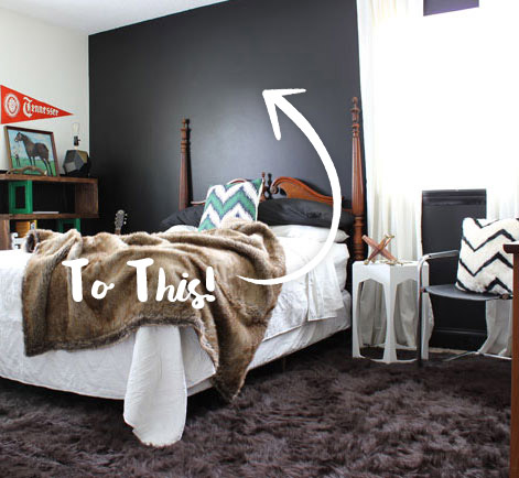 Guest Bedroom Bold Remodeling Project Behr