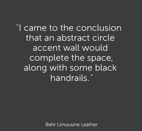 """I went with a bold green Exquisite Emerald for my hallway because green is one of my favorite accent colors. It can be seen throughout my home, however it's only on one other small wall.""   - Behr Exquisite Emerald"