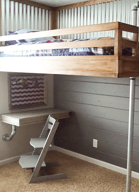 Diy Shiplap Accent Wall With Gray Paint Behr