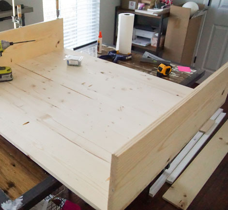 Hidden tv cabinet diy project behr i am not going to share all of the exact dimensions because we custom built this to fit around the tv we bought every tv is slightly different in size so malvernweather Images