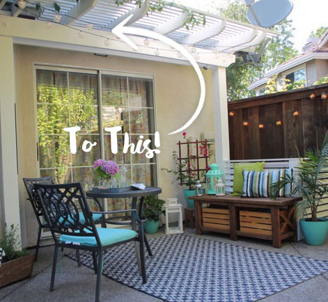 Marvelous Repainted Pergola: Brightening Blank Slate Back Patio | Behr