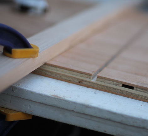 Clamping the boards