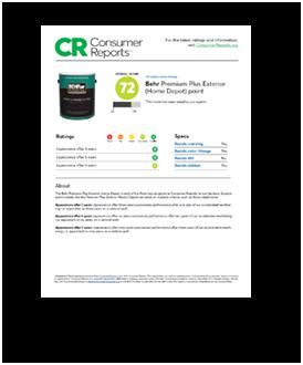 Premium plus exterior no voc paint primer behr - Consumer reports best exterior paint ...