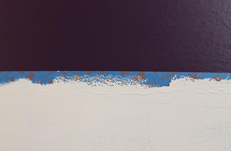 Una capa de Chocolate Froth sobre la pintura morada
