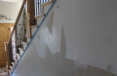 Use a W-shaped pattern when rolling paint on a wall