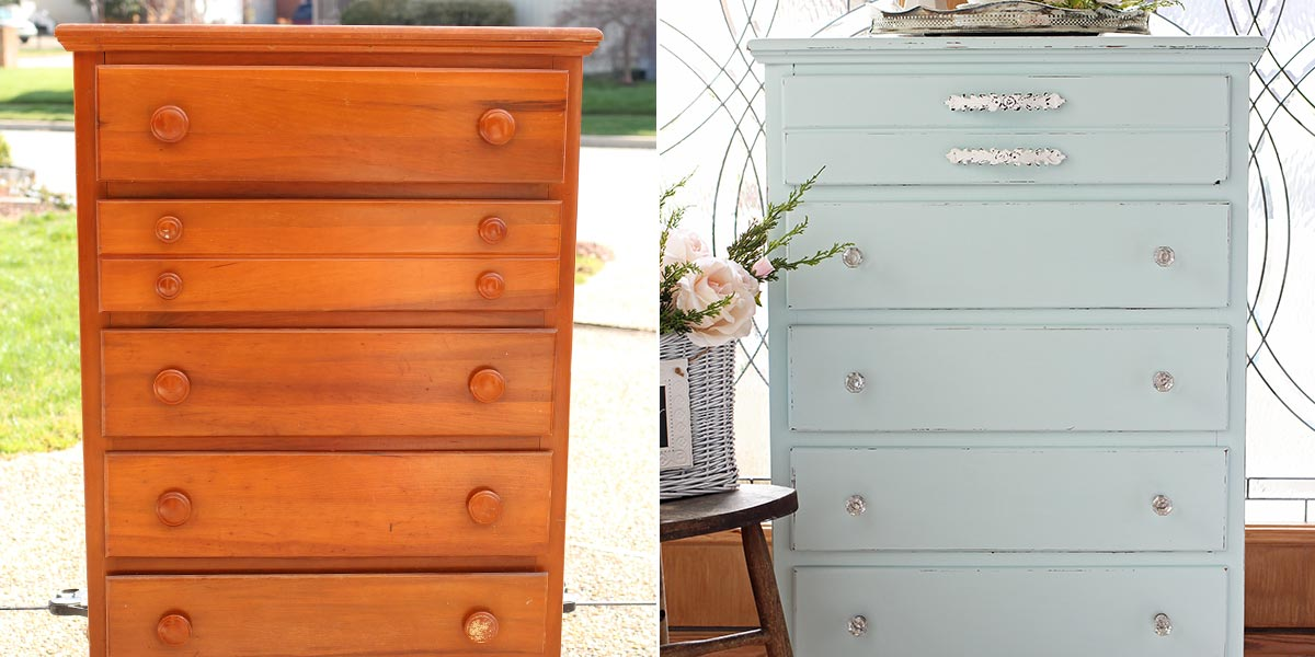Before and After Bedroom Dresser