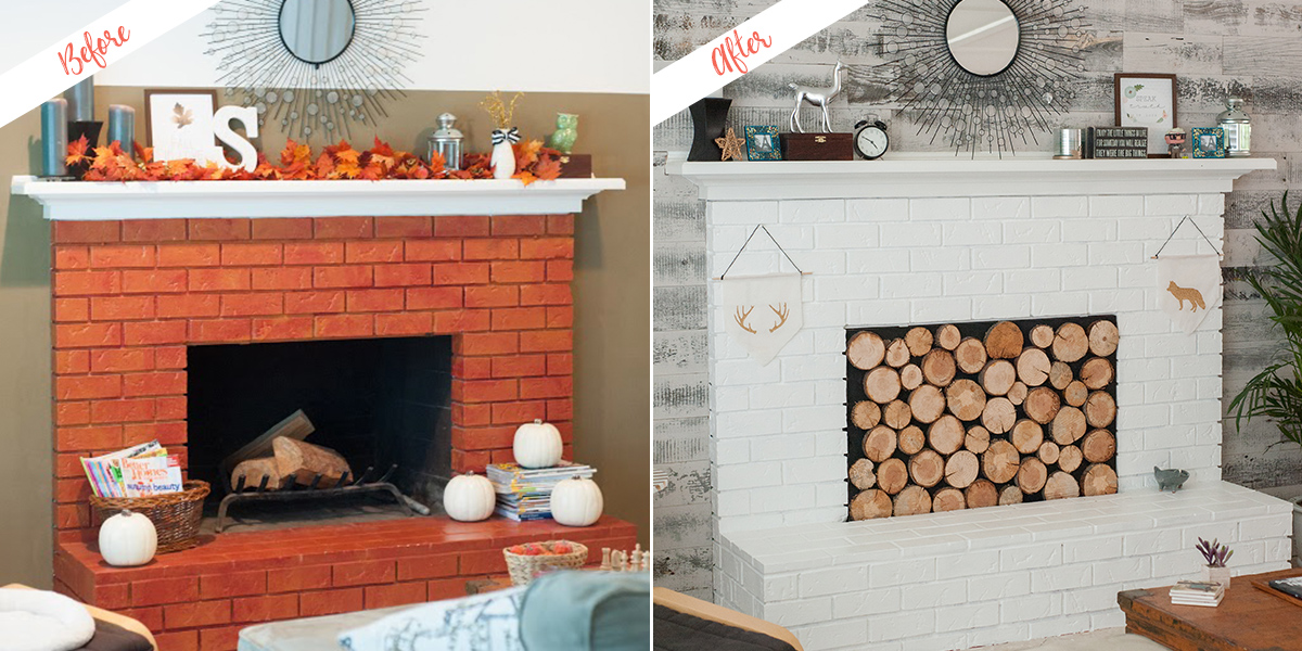 Peachy Modern Rustic Update To Fireplace Paint And Wall Behr Home Interior And Landscaping Ologienasavecom