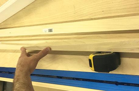 Presentando la curva de uno de los estantes