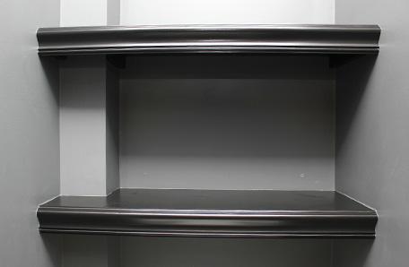 Primer plano de estante vacío