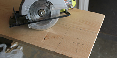 Measure and cut common boards to size