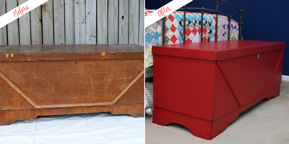 Perfect Blanket Chest, before and after