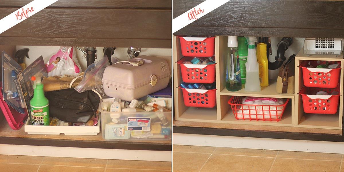 Undersink Storage project, before and after