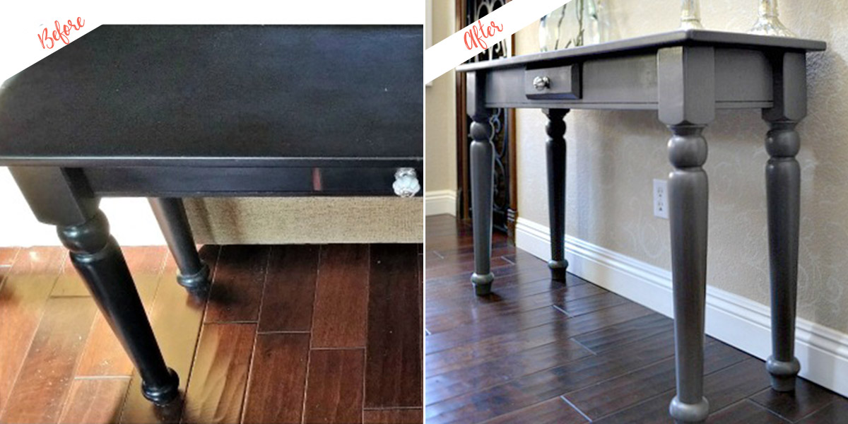 Console Table project, before and after
