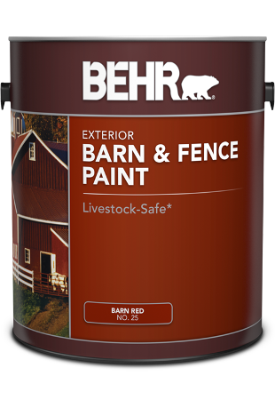 1 gal can of Behr Barn & Fence Paint