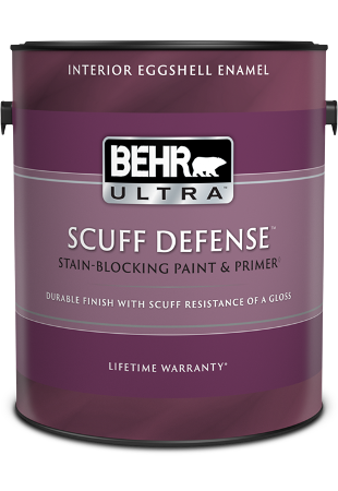 BEHR ULTRA<sup>®</sup> SCUFF DEFENSE<sup>™</sup> Interior Eggshell Enamel