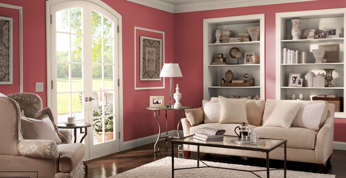 Red painted room inspiration project gallery behr for Living room paint inspiration