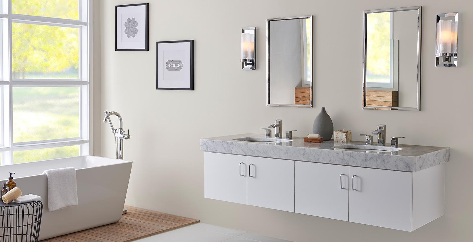 Silky White Bathroom White Bathroom Gallery Behr