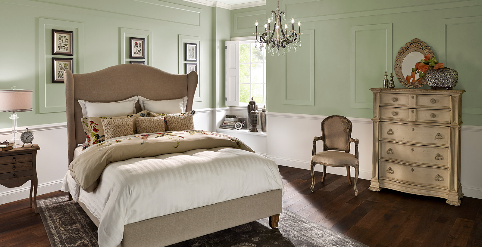 French Country Bedroom | Green Bedroom Gallery | Behr