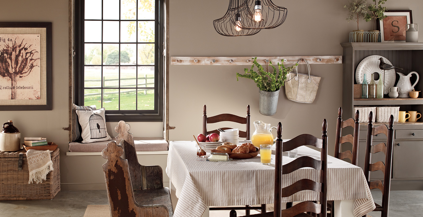 Old Country Style Dining Room | Brown Dining Room Gallery | Behr