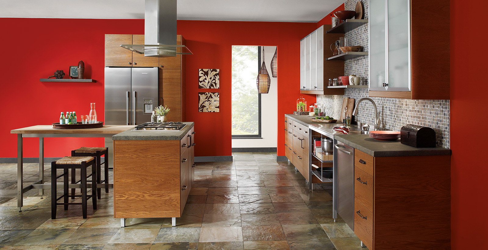 Bold Kitchen Wall Colors Ideas And Inspirational Paint Colors Behr