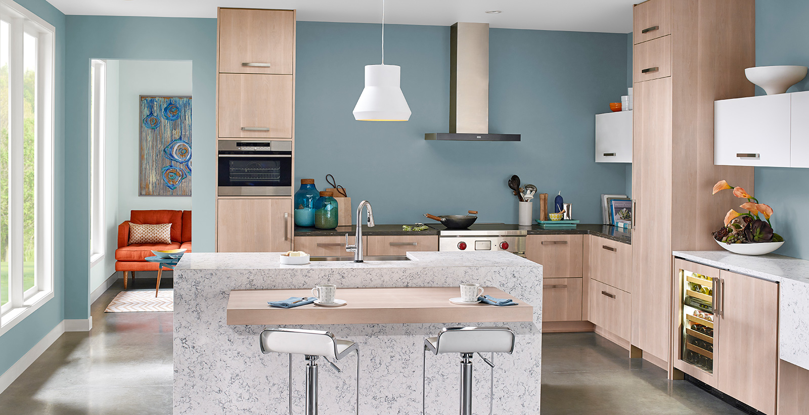 Blue Kitchen Ideas And Inspirational Paint Colors Behr