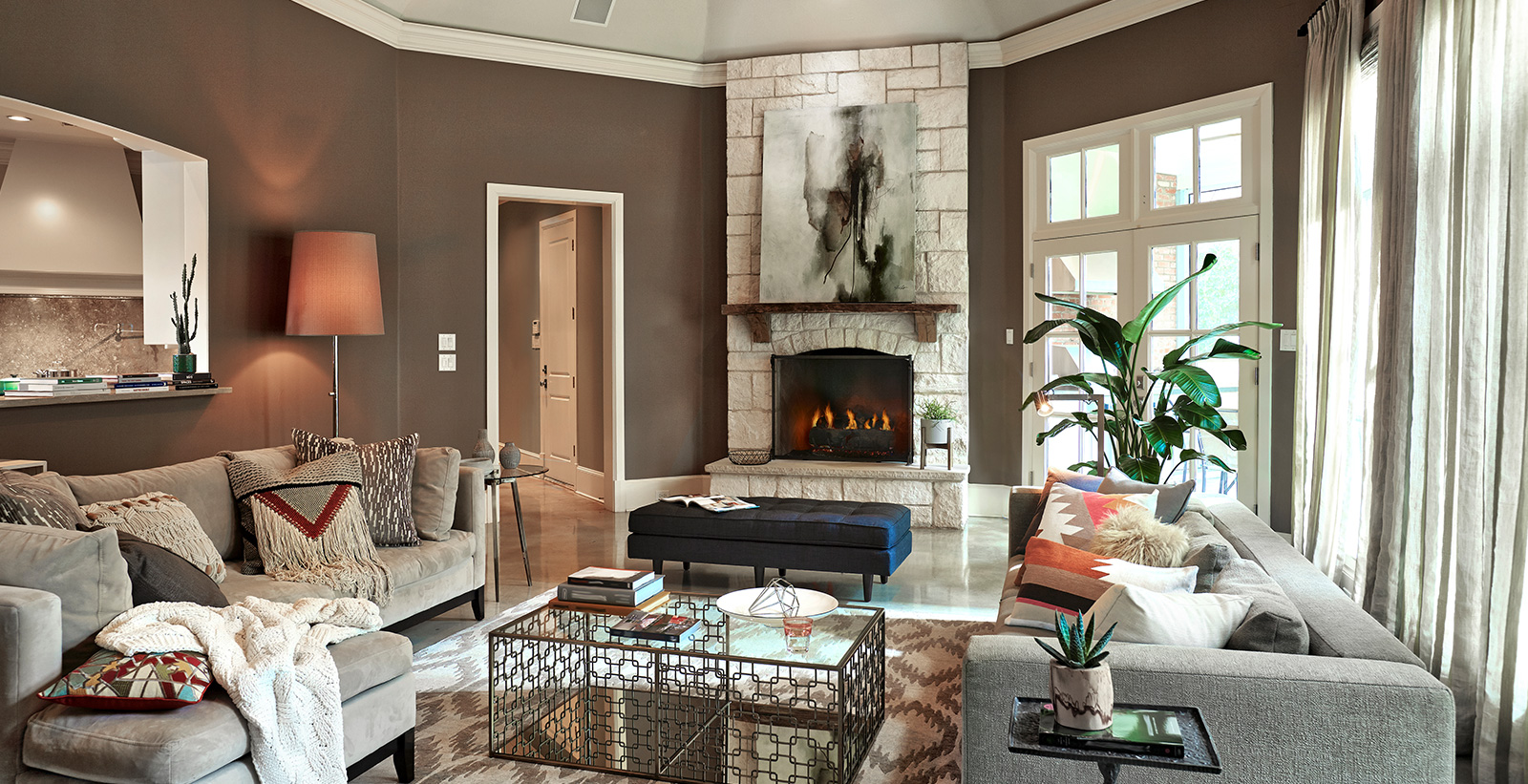 Brown Living Room Ideas and Inspirational Paint Colors | Behr
