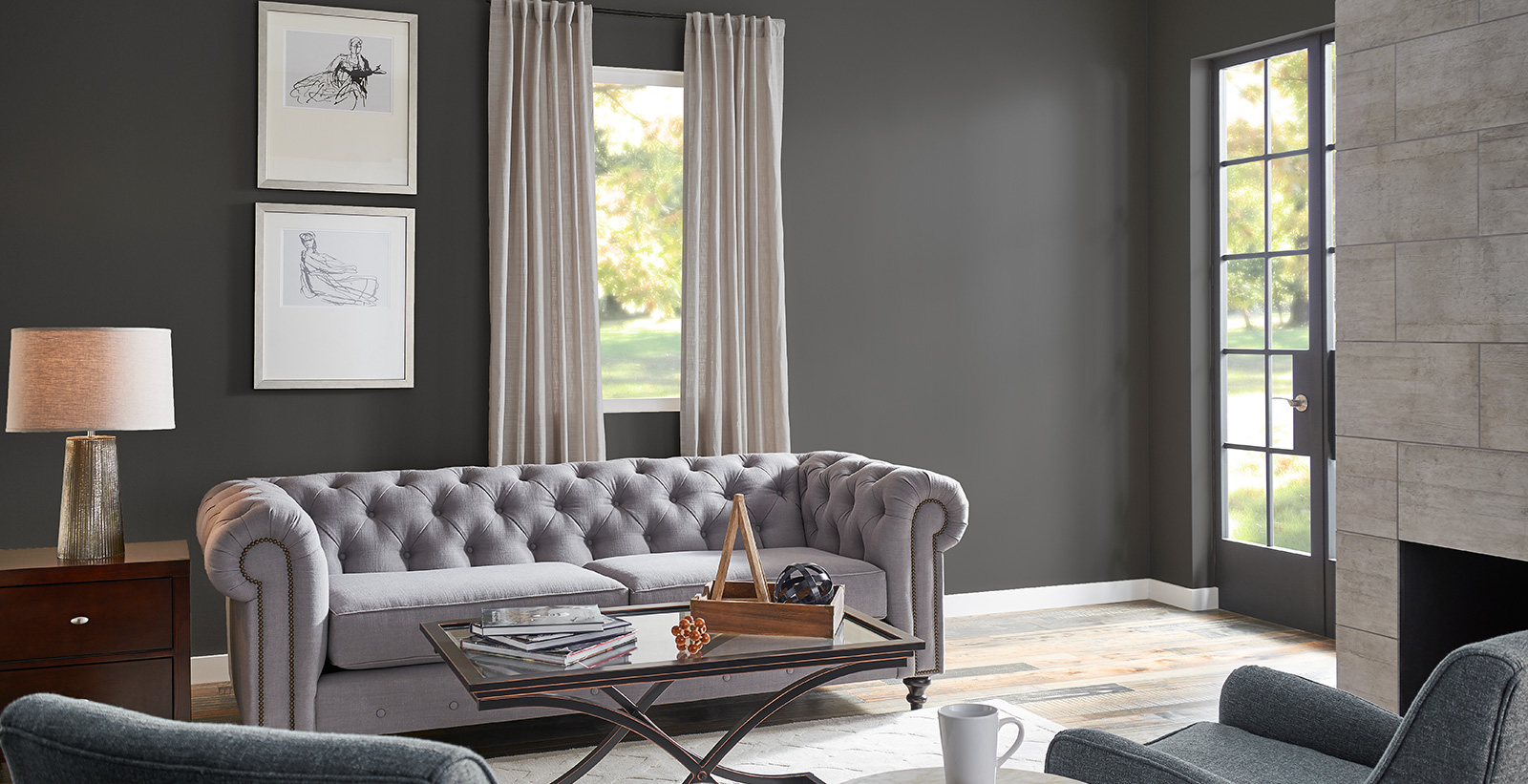 Gray Living Room Ideas And Inspirational Paint Colors Behr
