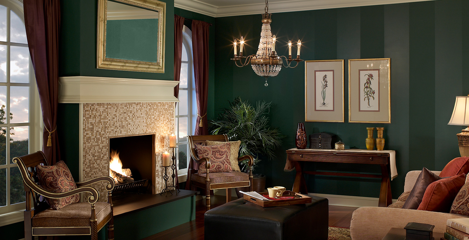Period Living Room Green Living Room Gallery Behr