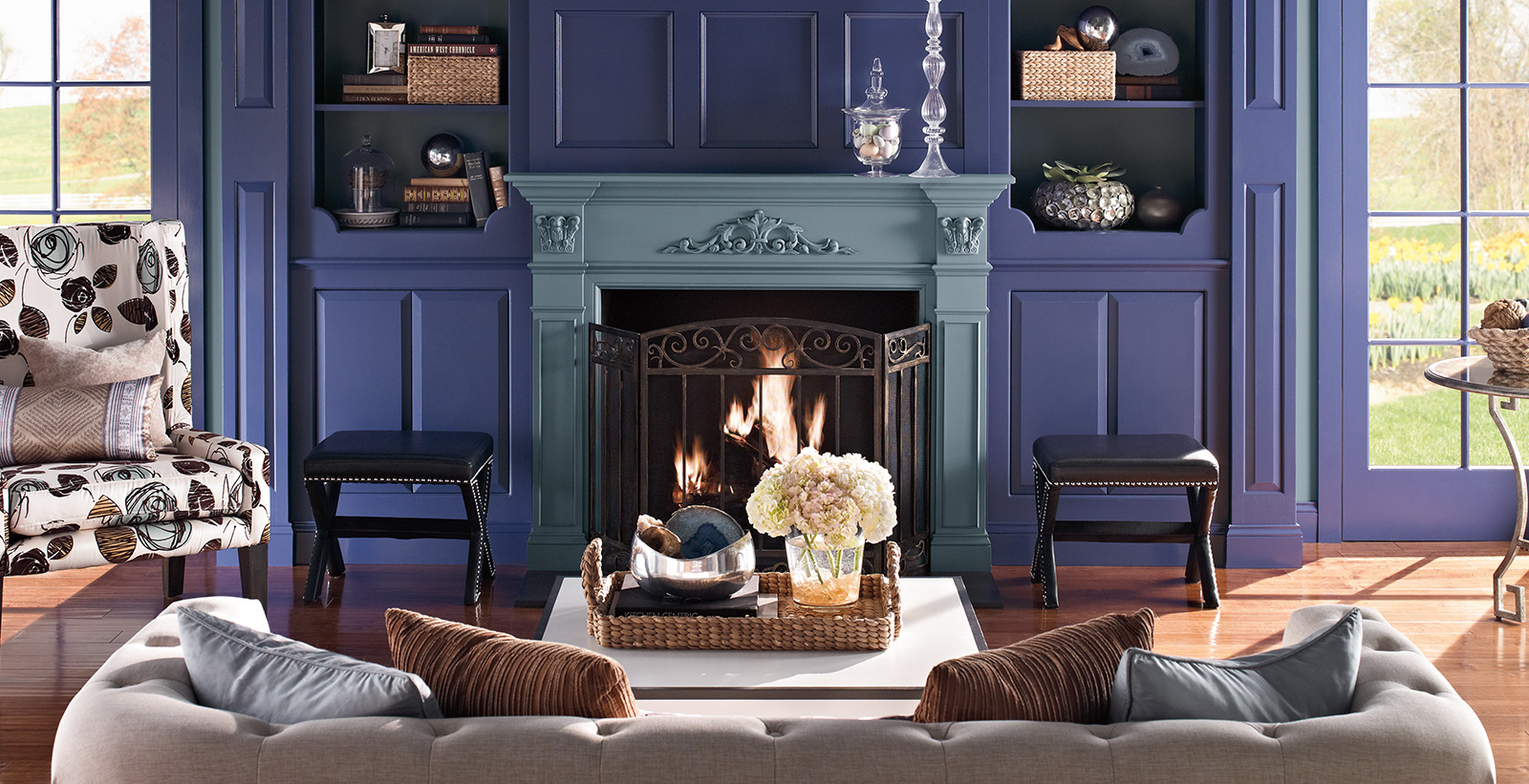 Purple Living Room Ideas And Inspirational Paint Colors Behr