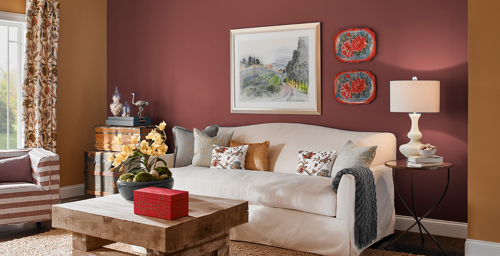 Red Living Room Ideas and Inspirational Paint Colors | Behr