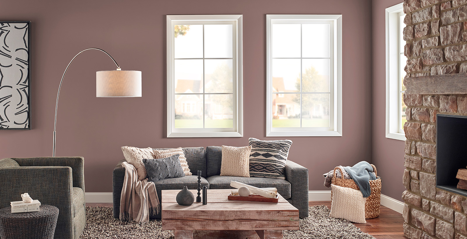 incredible behr paint living room | Rustic Chic Living Room | Purple Living Room Gallery | Behr