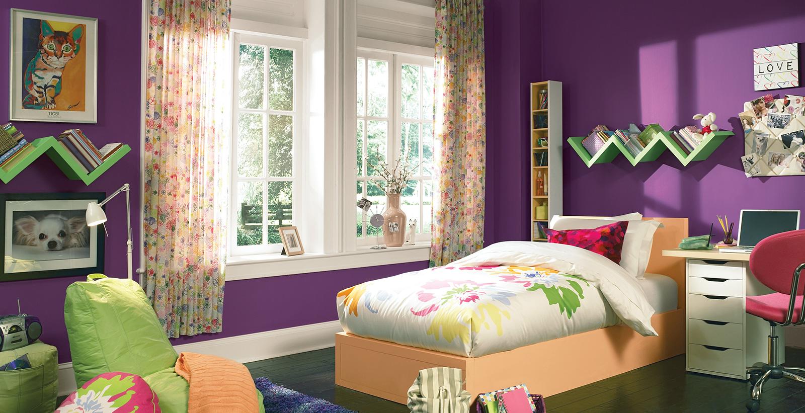 Electric Teen Room Purple Kid S Room Gallery Behr