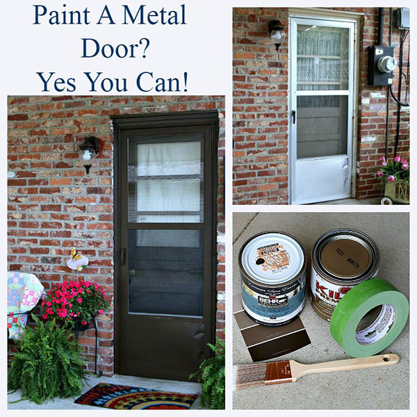 Updated Exterior Door Paint Revitalizes Rear Entry | Behr on painting mobile home kitchen, painting mobile home cabinets, painting mobile home paneling, painting mobile home ceilings, painting mobile home wood, painting mobile home interior, painting mobile home floors, painting mobile home countertops, painting mobile home skirting,